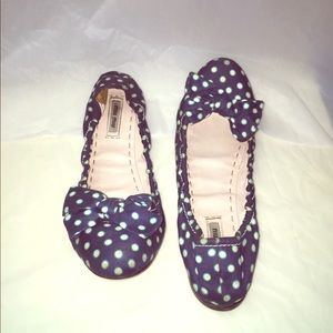 Miu Miu Flats  Soft Jean Material With bow